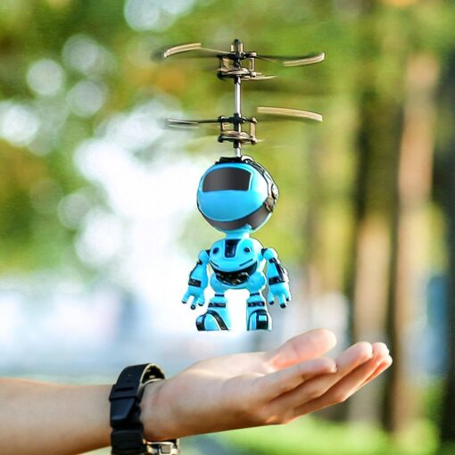 Light Suspension Robot Rechargeable Flying Vehicle Luminous Mini Fly Hand Flashing Induction Kids Aircraft Child Sensing