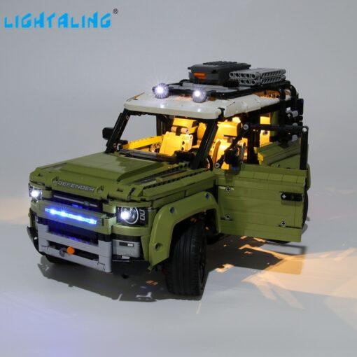 Lightaling Led Light Kit For Technic Landrover Defender Vehicles Toy Building Blocks Compatible With 42110 Lighting 1