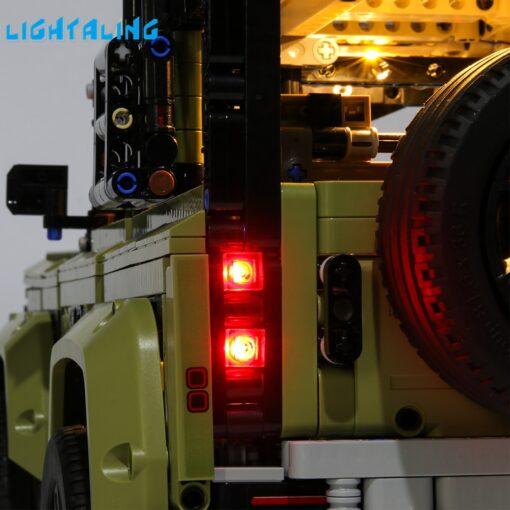 Lightaling Led Light Kit For Technic Landrover Defender Vehicles Toy Building Blocks Compatible With 42110 Lighting 4