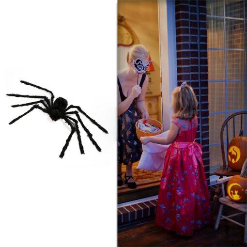 Lightweight Super Large Halloween Spider Plush Halloween Props Decoration Simulation Plush Spider 8