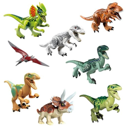 Locking Jurassic World Dinosaur Indominus Rex Movie Figures Set Jurassics Park Animals Styx Dragon Black Panther