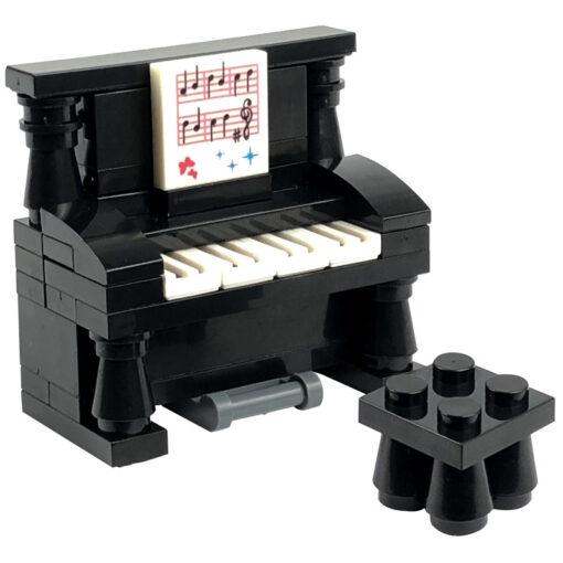 Locking MOC Creator Blocks Desk Bookcase Piano Bathtub Set Building Blocks Toys for Children for Creator 2