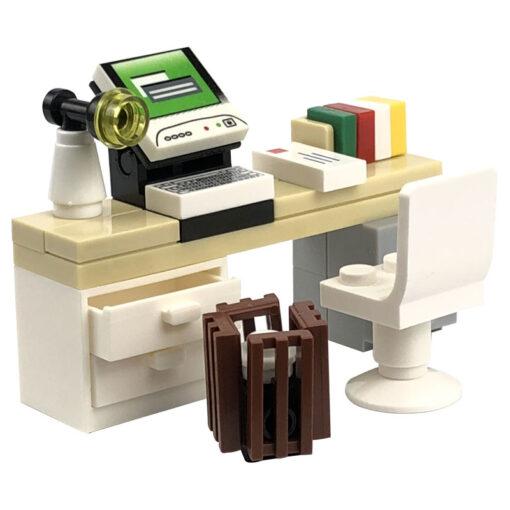 Locking MOC Creator Blocks Desk Bookcase Piano Bathtub Set Building Blocks Toys for Children for Creator 3
