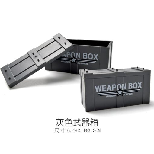 Locking Military SWAT Figures Weapon Box Police Dog Gun Building Blocks Toys For Children Assemble Weapons 1