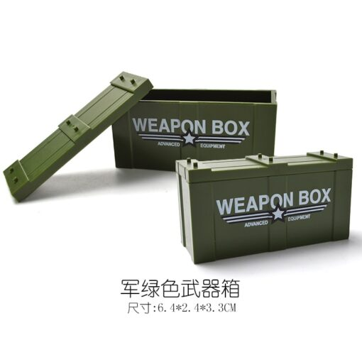 Locking Military SWAT Figures Weapon Box Police Dog Gun Building Blocks Toys For Children Assemble Weapons 2