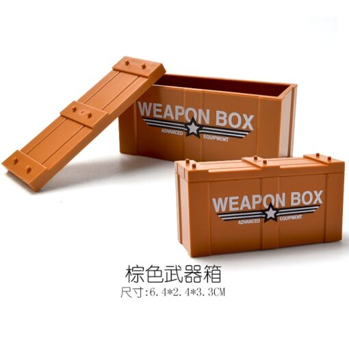 Locking Military SWAT Figures Weapon Box Police Dog Gun Building Blocks Toys For Children Assemble Weapons 3