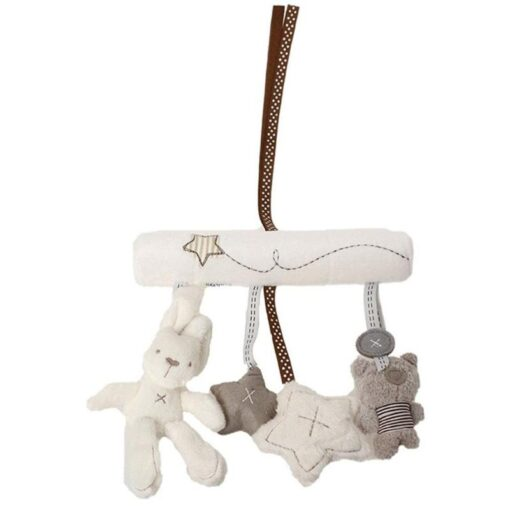 Lovely Baby Cartoon Animal Play Bed Hanging Bell Interesting Infant Crib Bed Stroller Toy Hand Bell 3