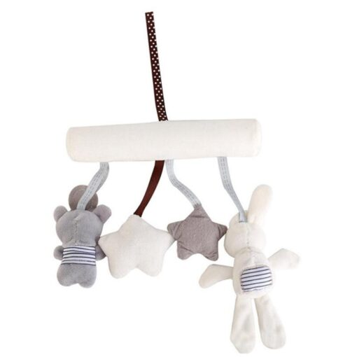 Lovely Baby Cartoon Animal Play Bed Hanging Bell Interesting Infant Crib Bed Stroller Toy Hand Bell 4