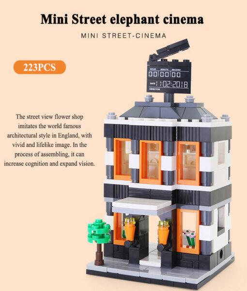 MINI City Street Blocks Architecture DIY Bricks City Series Mini Street Model Store Shop Assembly Toy 1