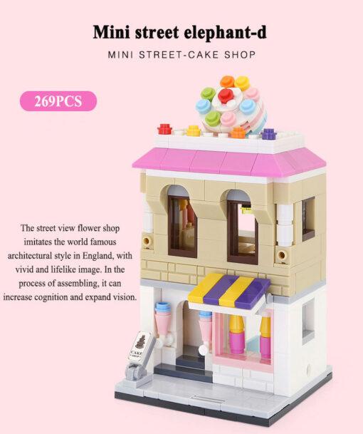 MINI City Street Blocks Architecture DIY Bricks City Series Mini Street Model Store Shop Assembly Toy 2