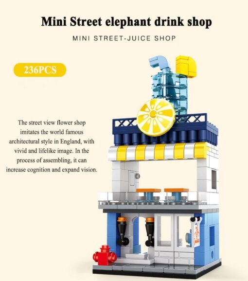 MINI City Street Blocks Architecture DIY Bricks City Series Mini Street Model Store Shop Assembly Toy 4