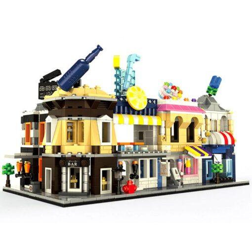 MINI City Street Blocks Architecture DIY Bricks City Series Mini Street Model Store Shop Assembly Toy 5