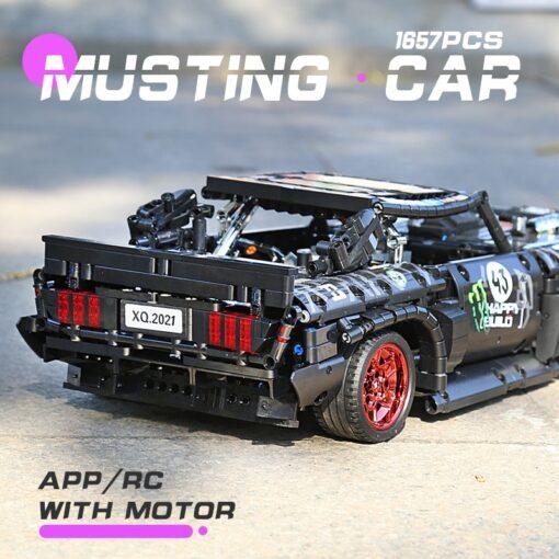 MOC 22970 Led Bricks Model Compatible Technic RC Ford Mustang Hoonicorn RTR V2 City Car Building 4
