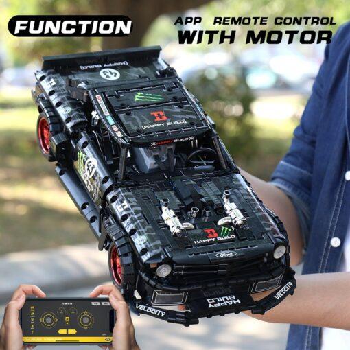 MOC 22970 Led Bricks Model Compatible Technic RC Ford Mustang Hoonicorn RTR V2 City Car Building 7