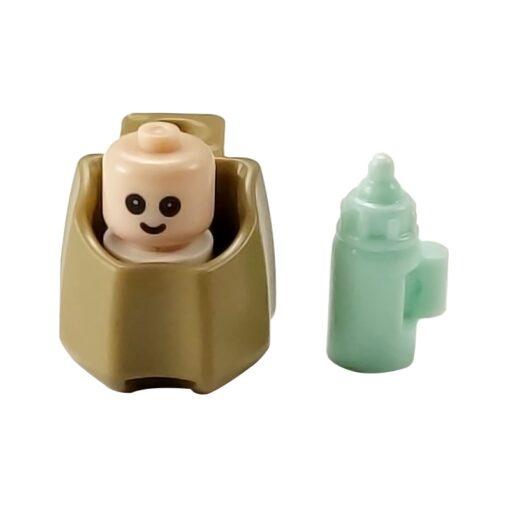 MOC City Baby Bed Baby Bottle Cute Figures Single Sale Building Blocks Toys for Children City 2