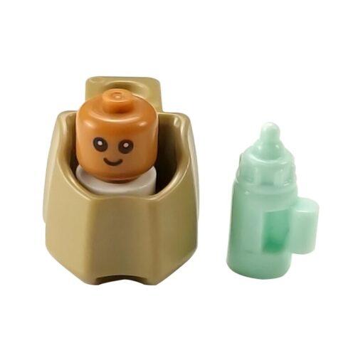 MOC City Baby Bed Baby Bottle Cute Figures Single Sale Building Blocks Toys for Children City 3