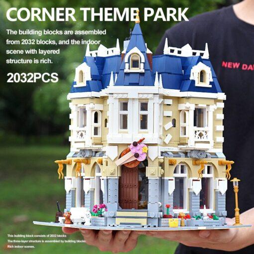 MOC City Street view series The brickstive Corner Theme Park Model Building Kits Block Bricks Kids 1