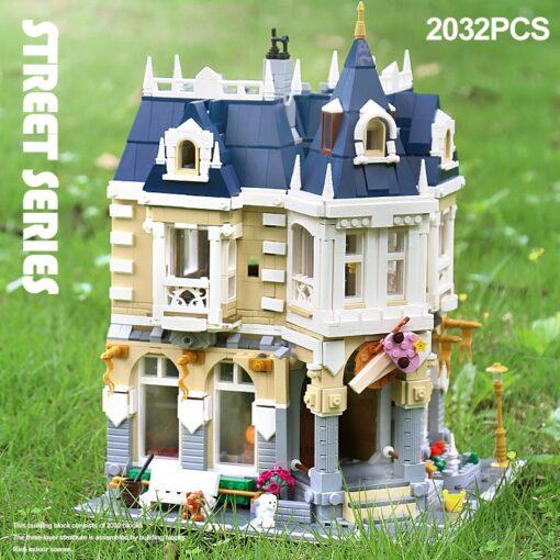 MOC City Street view series The brickstive Corner Theme Park Model Building Kits Block Bricks Kids 2