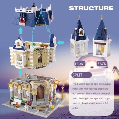 MOC City Street view series The brickstive Corner Theme Park Model Building Kits Block Bricks Kids 3