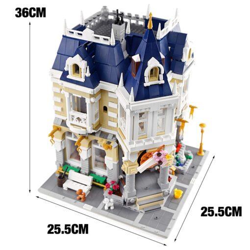 MOC City Street view series The brickstive Corner Theme Park Model Building Kits Block Bricks Kids 5