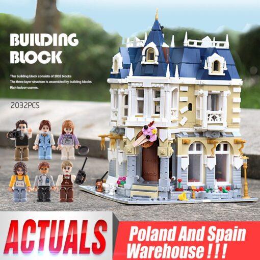 MOC City Street view series The brickstive Corner Theme Park Model Building Kits Block Bricks Kids
