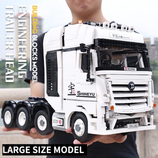 MOC Technic Yu Ji Blocks APP Remote control Truck Arocs Car Model Building Assemble Bricks Kids 1
