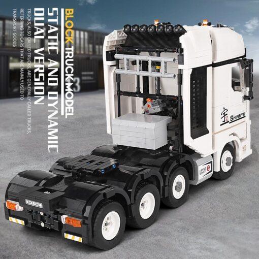 MOC Technic Yu Ji Blocks APP Remote control Truck Arocs Car Model Building Assemble Bricks Kids 4
