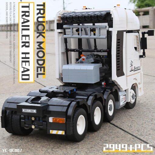 MOC Technic Yu Ji Blocks APP Remote control Truck Arocs Car Model Building Assemble Bricks Kids 5
