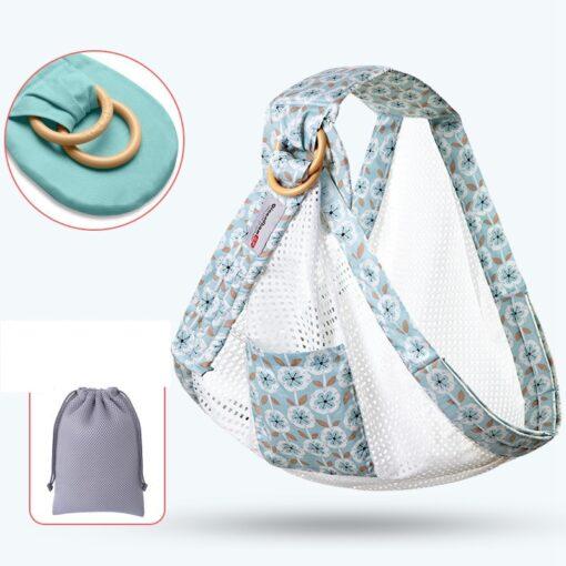 MOTOHOOD Ergonomic Baby Sling Carrier Comfort Newborn Kangaroo Baby Sling Wrap Infant Holder Breastfeeding Nursing Cover 4
