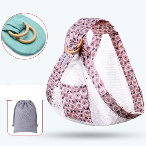 MOTOHOOD Ergonomic Baby Sling Carrier Comfort Newborn Kangaroo Baby Sling Wrap Infant Holder Breastfeeding Nursing Cover 5
