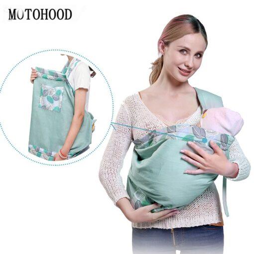 MOTOHOOD Ergonomic Baby Sling Carrier Comfort Newborn Kangaroo Baby Sling Wrap Infant Holder Breastfeeding Nursing Cover