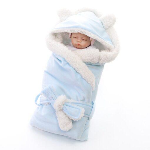MOTOHOOD Winter Baby Boys Girls Blanket Wrap Double Layer Fleece Baby Swaddle Sleeping Bag For Newborns 1