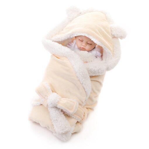 MOTOHOOD Winter Baby Boys Girls Blanket Wrap Double Layer Fleece Baby Swaddle Sleeping Bag For Newborns 2