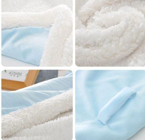 MOTOHOOD Winter Baby Boys Girls Blanket Wrap Double Layer Fleece Baby Swaddle Sleeping Bag For Newborns 4