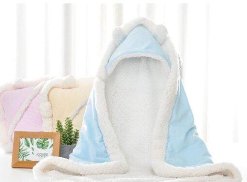 MOTOHOOD Winter Baby Boys Girls Blanket Wrap Double Layer Fleece Baby Swaddle Sleeping Bag For Newborns 5