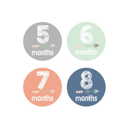 MUQGEW 12PCS Baby Newborn Monthly Milestone Stickers Birth to 12 Months Stickers Pegatinas Funny Sticker Toys 5