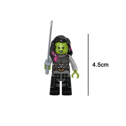 Marvel Guardians of the Galaxy Star Lord Gamora Nebula Rocket Raccoon Yondu Building Block BrickMini Toy 3