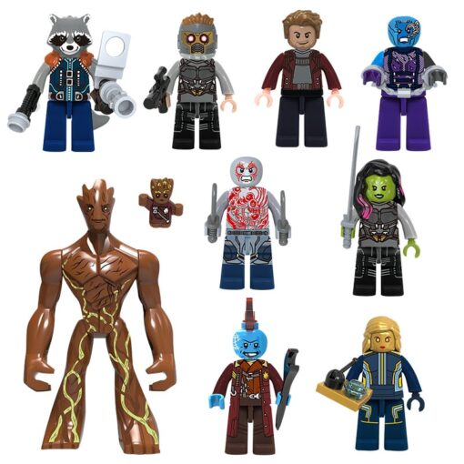 Marvel Guardians of the Galaxy Star Lord Gamora Nebula Rocket Raccoon Yondu Building Block BrickMini Toy