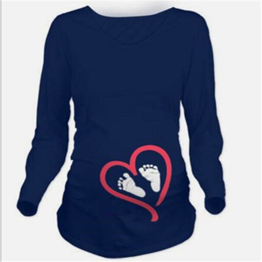 Maternity Clothes New Maternity Long Sleeve Tshirt Casual Maternity Clothing Clothes For Pregnant Women Maternity Dress 1