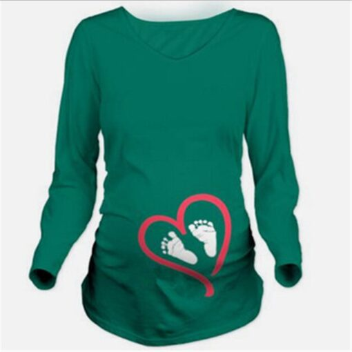 Maternity Clothes New Maternity Long Sleeve Tshirt Casual Maternity Clothing Clothes For Pregnant Women Maternity Dress 2