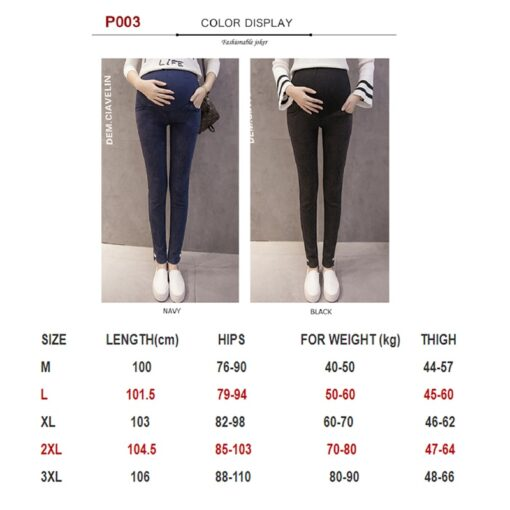 Maternity Pants Maternity Jeans for Pregnant Women Plus Size Pregnancy clothes Elastic Skinny Trousers Jeans Over 3