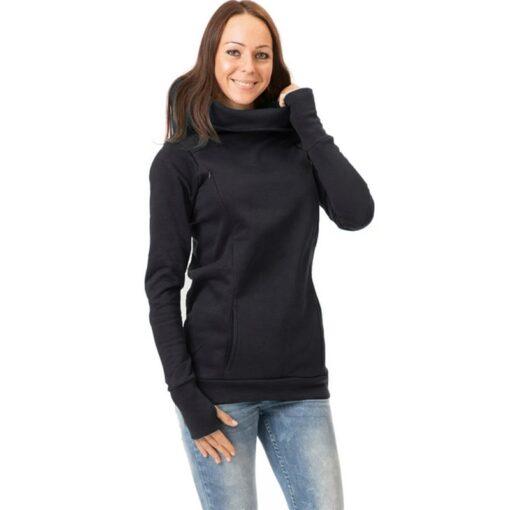 Maternity Sweatshirt Women Nursing Maternity Long Sleeves Hooded Breastfeeding Hoodie Pregnant Women Long Sleeve Hooded Sweater 4