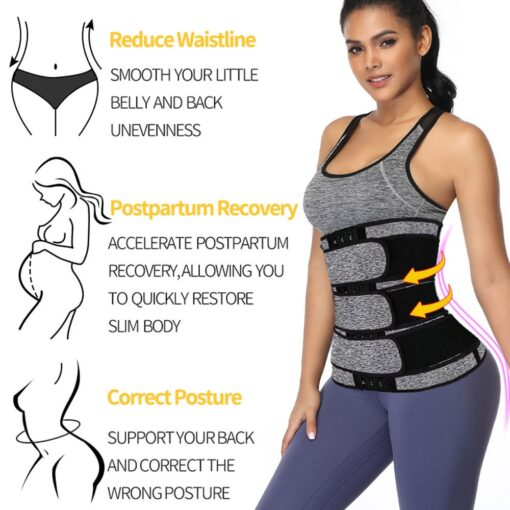 Maternity Weight Loss Postpartum Bandage Neoprene Sport Waist Trimmer Slimming Belly Band Hot Sauna Effect Zipper 4