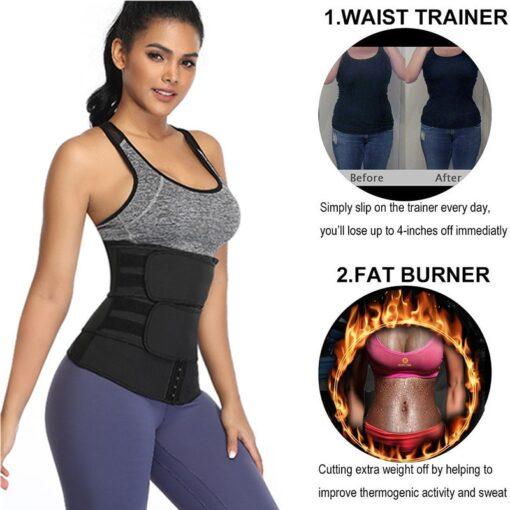 Maternity Weight Loss Postpartum Bandage Neoprene Sport Waist Trimmer Slimming Belly Band Hot Sauna Effect Zipper 5