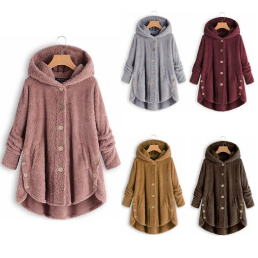 Maternity wear women s autumn and winter hooded warm jacket female casual pregnant women loose ladies 1