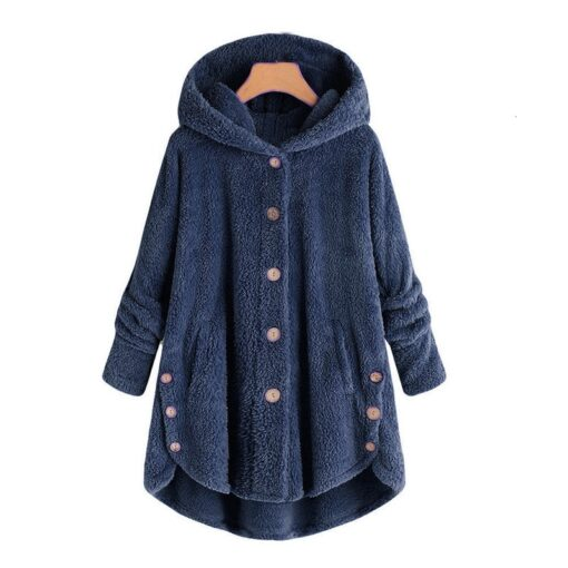Maternity wear women s autumn and winter hooded warm jacket female casual pregnant women loose ladies 4