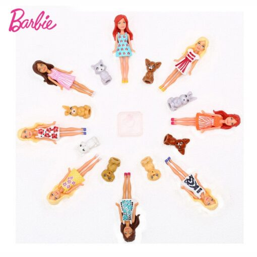 Mattel Mini Barbie Girl Dolls Cute Pet Series Princess Girl Birthday Surprise Gift Cute Toys for 1