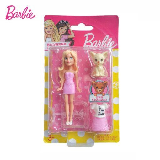 Mattel Mini Barbie Girl Dolls Cute Pet Series Princess Girl Birthday Surprise Gift Cute Toys for 3