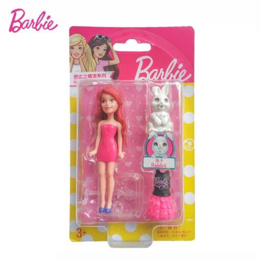 Mattel Mini Barbie Girl Dolls Cute Pet Series Princess Girl Birthday Surprise Gift Cute Toys for 5