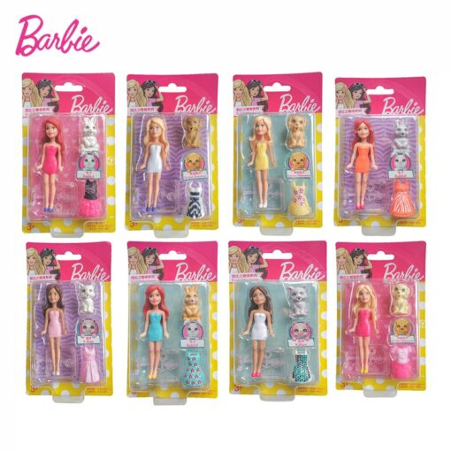 Mattel Mini Barbie Girl Dolls Cute Pet Series Princess Girl Birthday Surprise Gift Cute Toys for